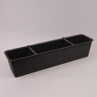 Балконный ящик с подставкой Ratolla SET коричневый 68.5см.