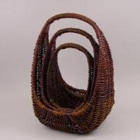 Комплект коричневих кошиків з лози 3 шт. 37534