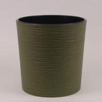 Горшок пластмассовый Мальва ECO с вкладом долото зеленый лесной 19см.