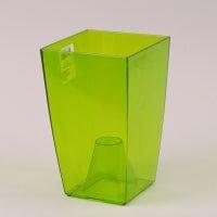 Горщик пластмасовий для орхідей Фінезія зелений 12.5х12.5см.