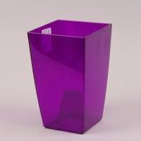Горщик пластмасовий для орхідей Фінезія фіолетовий 12.5х12.5см.