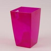 Горщик пластмасовий для орхідей Фінезія рожевий 12.5х12.5см.