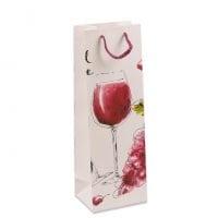 Пакет подарочный для бутылки 12х9х36 (12 шт.) 41493