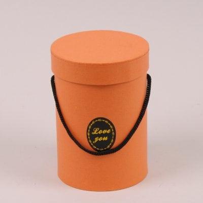 Фото Коробка для цветов оранжевая 41446