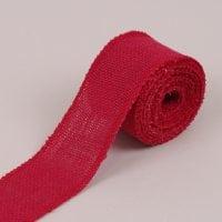 Стрічка з мішковини червона 6.2 см. х 4.5 м . 41590