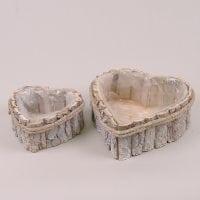 Комплект дерев'яних кашпо Серце 2 шт. 41531