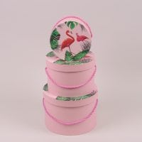 Комплект коробок для квітів Фламінго 3 шт. 41555