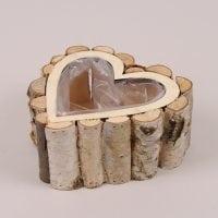 Кашпо дерев'яне Серце 41622