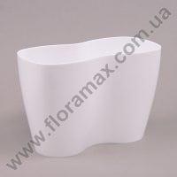 Горщик пластмасовий для орхідей Двійка білий 23.5см.