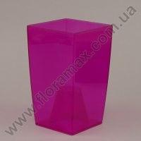 Горшок пластмассовый для орхидей Coubi Kwadrat розовый 12см.