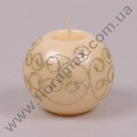 Свічка Laura Куля кремова 24528