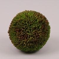 Куля декоративна бордово-зелена D-14 см. 72484