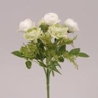 Букетик Камелій біло-зелений 72486