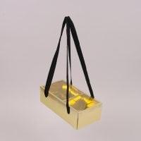 Коробка для квітів складна золота 12 шт. (ціна за 1 шт.) 41739