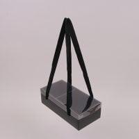 Коробка для квітів складна чорна 12 шт. (ціна за 1 шт.) 41740
