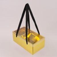 Коробка для квітів складна золота 12 шт. (ціна за 1 шт.) 41742