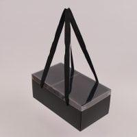 Коробка для квітів складна чорна 12 шт. (ціна за 1 шт.) 41743