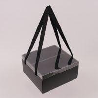 Коробка для квітів складна чорна 12 шт. (ціна за 1 шт.) 41745