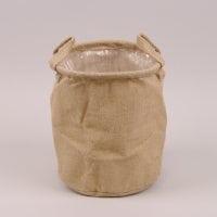 Кашпо из мешковины для декоративных растений 41719