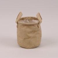 Кашпо из мешковины для декоративных растений 41720