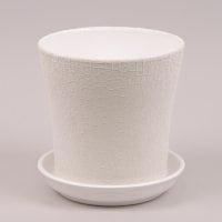 Горшок керамический Вуаль шелк белый 1л.
