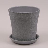 Горшок керамический Вуаль шелк металлик 1л.