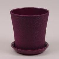 Горшок керамический Вуаль шелк фиолетовый 1л.