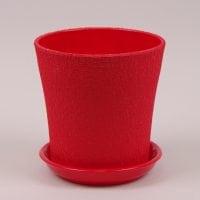 Горшок керамический Вуаль шелк красный 1л.