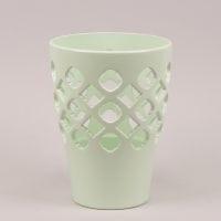 Горшок керамический Орхидейница Ажур фисташковый 1,5л.