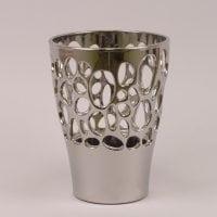 Горшок керамический Орхидейница Бионика хром 1,5л.