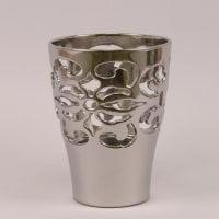 Горшок керамический Орхидейница Барокко хром 1.5л.