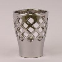 Горшок керамический Орхидейница Ажур хром 1,5л.