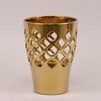 Горшок керамический Орхидейница Ажур золотой 2,7л.