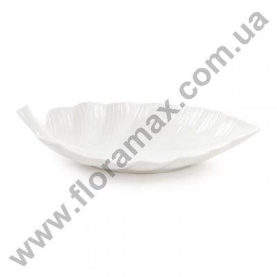 Фото Блюдо фарфоровое в форме листика 39 см. 31001
