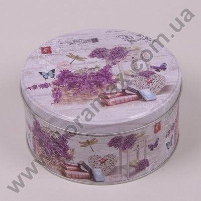 Фото Коробка металлическая круглая 35084