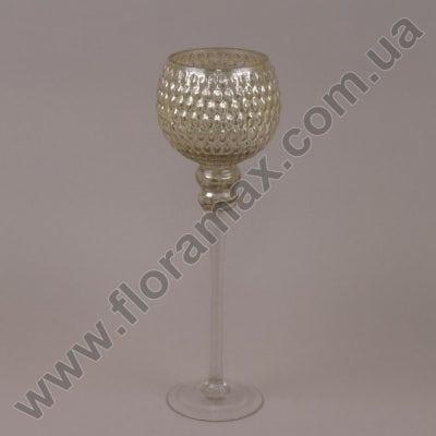 Фото Подсвечник стеклянный шампань 30063