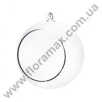 Шар стеклянный подвесной D-10 см. 26123