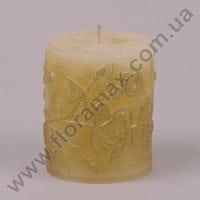 Свічка Nostalgia Циліндр золота 24565