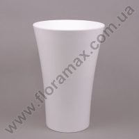 Ваза пластмасова Орхідея з вкладом біла