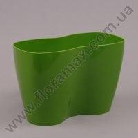 Горшок пластмассовый для орхидей Двойка зеленый 23.5см.