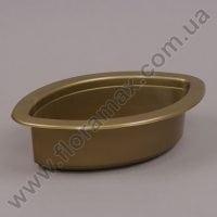 Кашпо пластмасове для композицый Човник Ант золоте 26см.