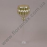 Подсвечник стеклянный шампань 30054