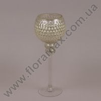 Подсвечник стеклянный шампань 30064