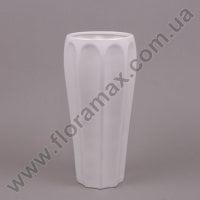 Ваза керамическая белая 26255