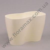 Горщик пластмасовий для орхідей Двійка молочний 23.5см.