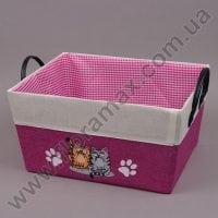 Кошик з тканини дитячий рожевий 5135