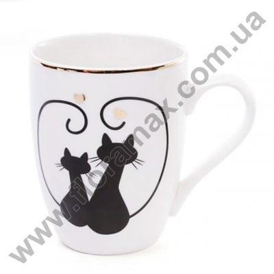 Фото Кружка фарфоровая Влюбленные коты 0,32 л. 28160