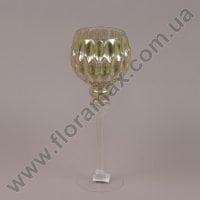 Подсвечник стеклянный шампань 30055