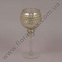 Подсвечник стеклянный шампань 30065