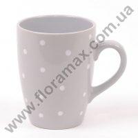 Чашка керамическая в горошек 0,33 л. 28418